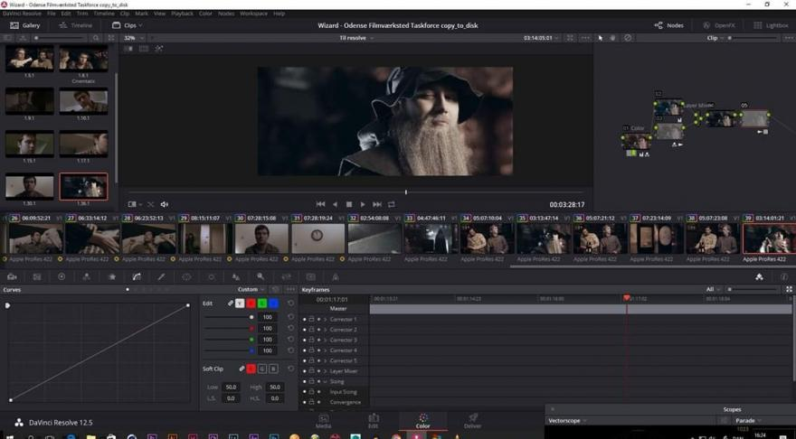 Skærmdump Davinci Resolve