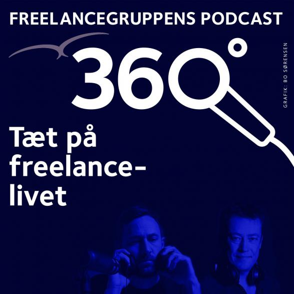 Cover til podcastserien freelancelivet 360 grader