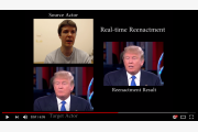 trump falsk video